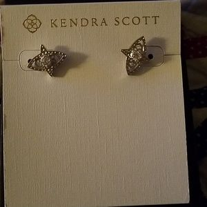 Kendra Scott Crosby Stud Earrings Silver